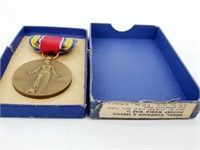 WWII Victory Campaign & Service Medal & Box