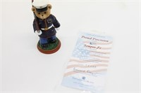 Hamilton Collection Dress Blues USMC Bear Figure