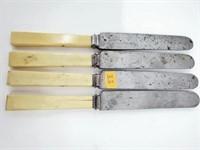 Civil War Era Ivory Lamson & Goodnow Table Knives