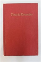 1974 Times To Remember By Rose Fitzgerald Kennedy