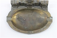 Vintage Cast Brass Washington Capitol Ashtray