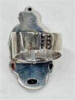 Sajen Balinese Designer 925 Gem Goddess Ring Sz8