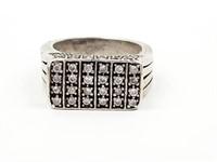 52 Natural Diamond & Sterling Silver Custom Ring
