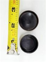 Vtg Designer Mini Lidded Copper Lapis Trinket Box