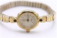 Vintage Ladies Gold Cap Deco Timex Wristwatch