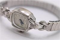Ladies Vintage Deco Bulova Designer Wristwatch