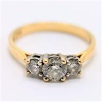Vtg High Grade .99 ct. Diamond 14K Bi-Color Ring
