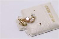 Brand New Designer 10Kt Gold Flower Pendant