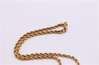 14K Gold Rope Chain Necklace