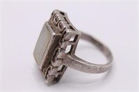 .925 Sterling Silver Square Ring