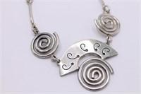 .925 Sterling Silver Mexican Modern Bracelet