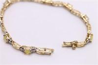 .925 Sterling Silver Opal Gemstone Bracelet