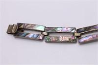 .925 Sterling Silver Taxco Abalone Bracelet