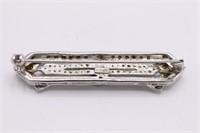 .925 Sterling Silver Deco Brooch