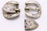 .925 Sterling Silver Handcrafted Motif Belt