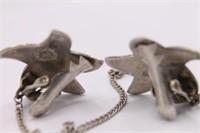 .925 Sterling Silver Starfish Abalone Sweater