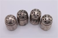 [4] Antique Silvercraft Sterling S&P Shakers
