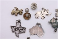 Antique-Vtg Variety Sterling Silver Charms