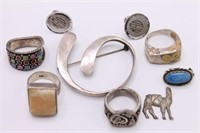 Large Lot of Vintage Sterling Silver Jewelry