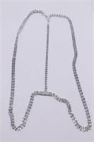 Alluring Modern Rhinestone Costume Necklace