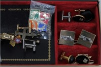 Vintage High End Men's Jewelry & Accessories Box