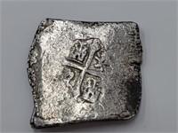 Shipwrecked Philip V 1700-1746 8 Reales Silver Cob
