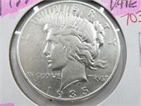1935-S Key Date Peace Dollar