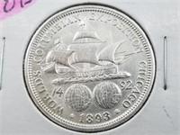 1892-93 90% Silver Columbian Expo Half Dollars