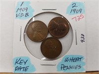 1909 Key Date Wheat Pennies