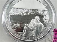 2017 10 Oz Silver Canada Niagrara Falls $50 Coin