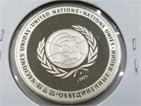 1975 United Nations 25 Grams Sterling Silver Coin