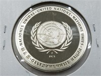1976 United Nations 25 Grams Sterling Silver Coin