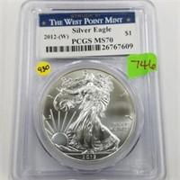 2012-W Silver Eagle Dollar