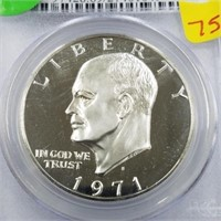 1971-S 40% Silver First Year Issue Dollar