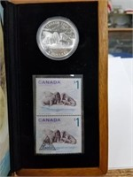 Limited Ed. 28 Gram Silver Canadian Coin/Stamp Set