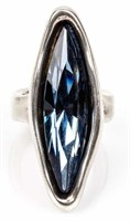 Jewelry Large Uno De 50 Crystal Ring