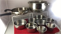 Collection of Stainless Steel Mixing Bowls And