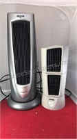 2 Lasco Cylinder Fans Tallest one is heater Both
