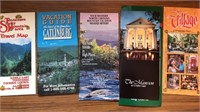 Collection of Vintage Travel Maps Guides And More