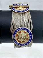 Amazing Enamel Heavy .925 Middle Eastern Bracelet