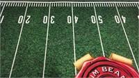 Large Jim Beam Football Mat 48x71