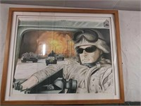 US soldier photo 19 1/4 in by 23 1/4 in glass is