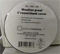 "4"" weatherproof round blank cover"