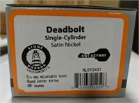 Stone harbor deadbolt single-cylinder