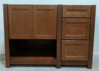 "Balin Clove 48"" vanity cabinet with three drawers"