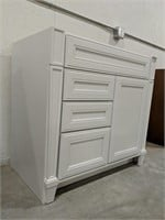 "Norton  Snowdrift 36"" vanity cabinet with 3"