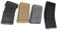 Lot of 17 AR-15 Magazines in Mag Can