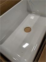 "Large porcelain sink 30""x18"" sink is 9"" deep"
