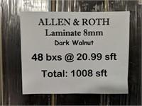 Allen&Roth Laminate Flooring 20.99 sft dark