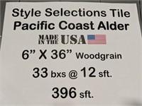 Style selections tile Pacific Coast Alder